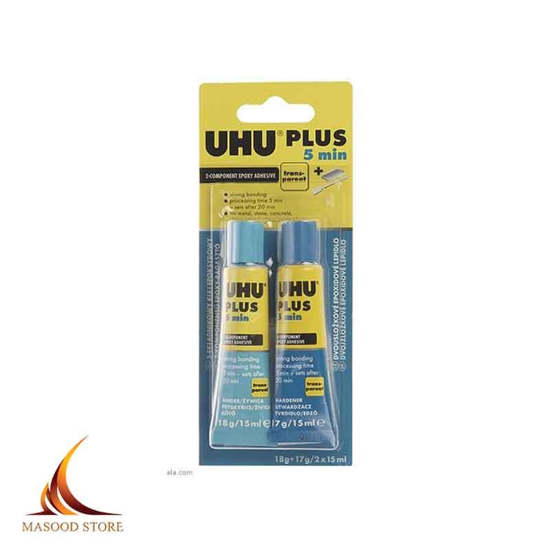 چسب دو قلو 5 دقیقه ای 35 گرمی اوهو | UHU PLUS EPOXY Quick Set adhesive